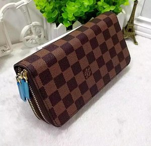 Best quality 2020 men leather brand classic wallet casual long card holder holder pocket fashion wallets men wallet serial number 9219#