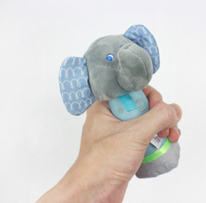 hot happy Elephant 15cm hand bar Stick Stuffed Plush Doll Toy elephant Animal Toys hand grasp Puzzle education Puppet kids