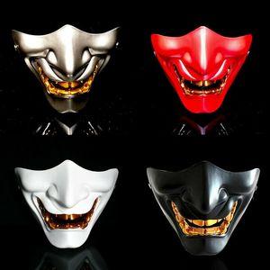 Oni Teufel Traditionelle japanische Halloween-Maske Dämon Abendkleid Prajnä Cosplay Tactical Halloween-Partei-Festival-Partei Cosplay Y200103