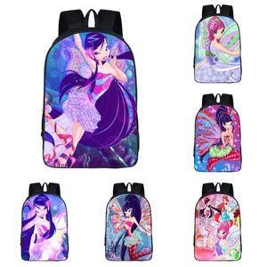 Student Magic Girls Rucksack 10 Design Contom 3D Cartoon Movie Magic Series Schultern Tasche Mädchen Cartoon Schultasche Hochwertige Rucksäcke 06