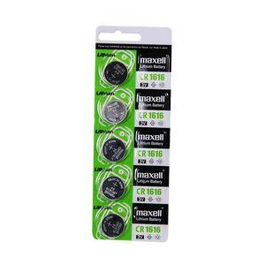 Maxell CR1616 3v pila de manganeso botón dióxido de litio pila de la llave original del coche de control remoto 1 tarjeta 5