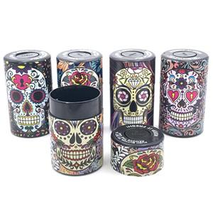 Hermétique motif de crâne en plastique Conteneur pour sec Herb tabac multi-usage scellé sous vide Jar Box Moistureproof Case Vial réservoir pour les marchandises