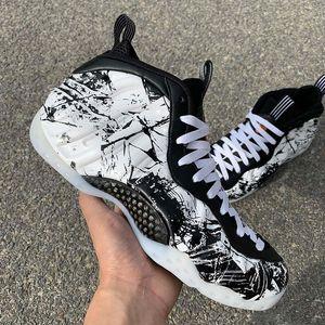 Penny Hardaway Halloween de basket-ball Chaussures métalliques Hologramme en mousse Copper One Chaussure de course en fibre de carbone réel Sport Chaussures