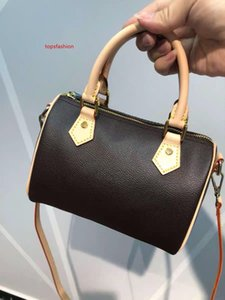 Hot sale top quality oxidize cowhide speedy 16cm 25cm 30cm handbags classic flower  designer handbag women bags lady totes pillow bag
