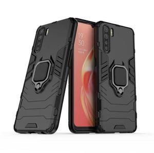 Pour OPPO A91 cas Bague ultra-mince dur PC couverture arrière luxe coloré autocollant de protection de cas pour OPPO A91