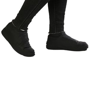 1 par reutilizável látex impermeável chuva Sapatos Covers antiderrapante de borracha chuva Bota Overshoes S / M / L cor sólida Calçados Acessórios