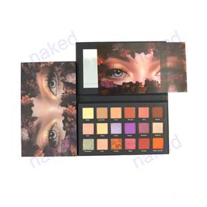 18 renk karışımı mat pırıltılı glitter palet göz farı karton mermer makyaj makyaj göz farı paleti
