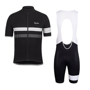 2019 Rapha verão homens de manga curta ciclismo camisa moto usar roupas bib SET MTB uniforme PRO ciclismo roupas bicicleta Maillot Culotte luzeda