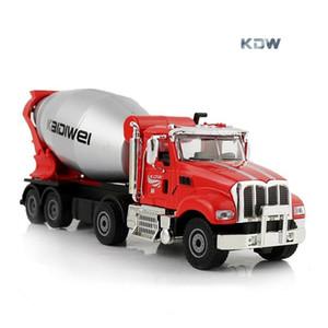 KDW Diecast alliage Cement Mixer Modèle Jouet, Camion Béton, 01h50 Ingénierie Véhicule, Ornement pour Noël Kid Birthday Boy cadeaux, collecte, 2-1