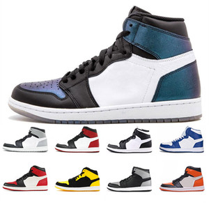 Haute qualité 1 High OG Bred Toe Dunk Chicago banni Jeu Royal Basketball Chaussures Hommes Top 3 Backboard Shadow Multicolor Sneakers Taille 7-12