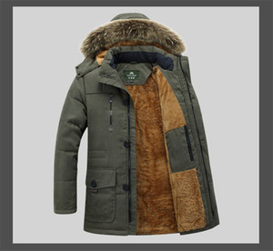 Mens New Fashion Cotton Gepolsterte Kleidung Warm Verdickt Lange Größe Winter Plus Pile Jacket Mens Apparel