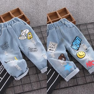 jeans 2020 Autumn dress Western chinos Jeans children's wear style children's wear boy's casual hole pants baby pants