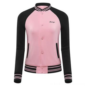 Winter Women Golf Baseball Jacket Paddling Water Sports Patchwork Sports Golf Coat Windbreaker Ladies Windproof Training Wear D0813