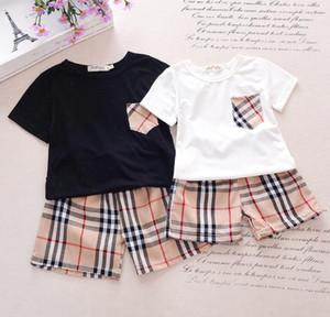 Baby infant boy kids designer clothing brand sets boys girl Outfits Toddler leisure sports suit pocket T-shirt + shorts children clothing