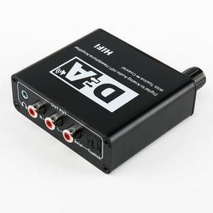 Numérique à analogique 50pcs Audio Converter HiFi Casque amplificateur avec adaptateur Toslink coaxial pour la télévision ENCEINTES