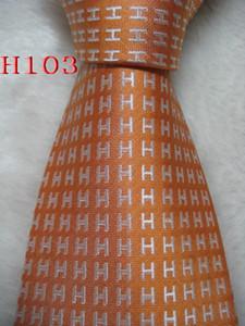 H-103 # 100% seda jacquard tejida hecha a mano de los hombres de la corbata del lazo