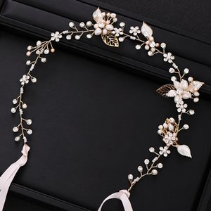 Silver color Bridal Headband tiara Freshwater Pearl Flower Wedding Headpiece Dress Hair Accessories Wedding Hair Jewelry