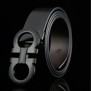 Ferragamo belt tasarımcı kemer iş kemer ithalatı gerçekten deri moda 8 toka kemer Çinko alaşım toka kemerler