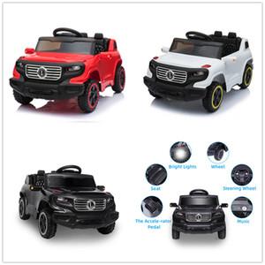 6V Segurança Crianças andar sobre Brinquedos Carro baterias eléctricas rodas Música controlo remoto sem fios Luz 3 velocidade unidade única automóvel Stock dos EUA