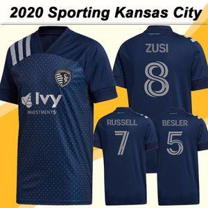 20 21 Sporting Kansas para hombre de fútbol jerseys Nueva RUSSELL PULIDO Gerso lejos camisa azul de fútbol poco uniformes de manga corta Busio adultas