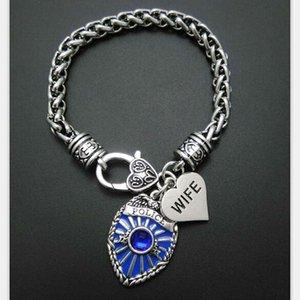 Mi forma de cadena de la pulsera de los hombres de la insignia del encanto Pulsera Mom Daughter Sister Wife ser joyas Brancelets Segura brazaletes colgante bricolaje