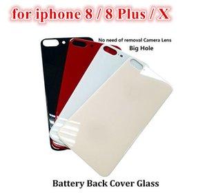 Новые Легко изменить заднюю крышку стекла Задний Корпус для iPhone X 8 плюс 8P замены двери батареи тело клей с большим отверстием 5Pcs