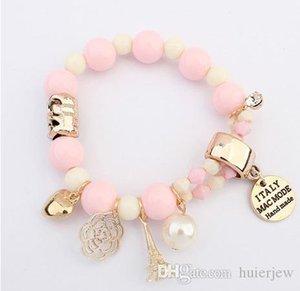 Armband Armreif Perlen Kristall echte Perle Armband natürliche Perlen Charm Armbänder