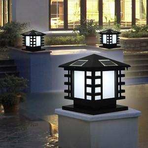 BRELONG Solar Dimmable Lumière de tête de colonne Étanche Lampe de porte LED Lumière de porte Poteau de jardin Villa Lumière de jardin
