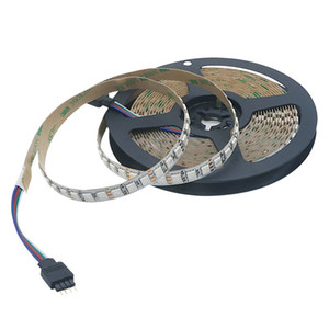 DC12V IP20 SMD 5050 RGB LED Strip Light White PCB 120leds m Changeable Color Non-Waterproof Flexible Ribbon Fita