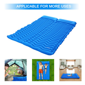 TOMSHOO Camping Mat Outdoor With Pillow Ultra-light Portable 2 Person Mattress Inflatable Mat Double Sleeping Pad Moisture-proof