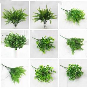 falso plástico hierba pared persa Planta Verde hierba artificial juego de simulación de material vegetal boda decoración de jardín LXL221-A
