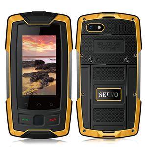 "SERVO X7 Artı 2.45 ""mini Smartphone LTE IP68 Su Geçirmez Sağlam Cep Telefonu MTK6737 RAM 2 GB ROM 16 GB Parmak İzi NFC GPS Walkie"