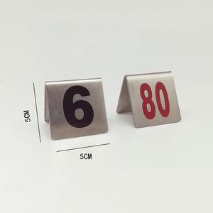Специальные таблички с номерами из нержавеющей стали Столы с цифрами Черная фигура Настольный стол Таблички с надписями Новое поступление 2 2jd L1
