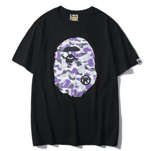 NEUE ANKUNFT Tide Teenager Hot Hip Hop Shark Mouth Druck kurzärmelige T-Shirts Liebhaber Lose Cotton T-Shirts Größen S-2XL
