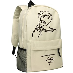 Singer Actor Troye Sivan Backpack Khaki Color School Bag for Children Bookbag