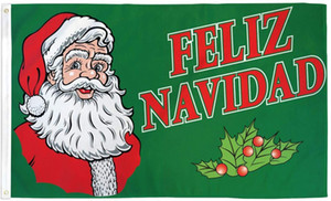 Фелис Навидад флаг с Рождеством флаг зеленый 3x5 футов печати 100D полиэстер крытый открытый украшения флаг с латунными люверсами Бесплатная доставка