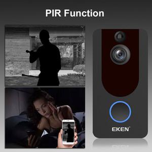 는 Eken V7 1080P 스마트 무선 비디오 초인종 카메라 비주얼 인터콤 날 밤 IP 도어 벨 무선 보안 카메라