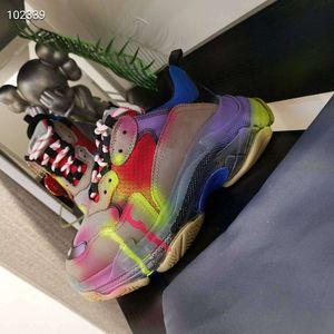 Aşıklar moda Şeffaf tabanı rahat ayakkabı toptan cattlehide ünlü marka spor ayakkabılar deri düz makosenler aşıklar bahar eğitmenleri