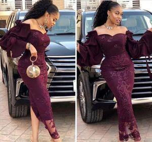 viola 2019 Saudita stile vestito da sera Mermaid Dubai Aso Ebi promenade largo dei cerniera posteriore su ordine formali abiti da sera