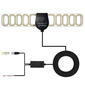 2em1 Para Voiture TV Numerique DVB-T Digital TV antena de alto ganho o Active Outdoor antena do carro Connecteur Extérieures GPS