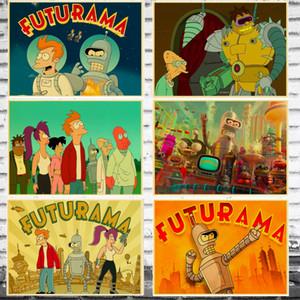 Karikatür Pop Amerikan Komedi Manga Futurama Tuval Boyama Vintage Duvar Kraft Posterler Kaplamalı Duvar Çıkartmaları Ev Dekorasyon Hedi ...