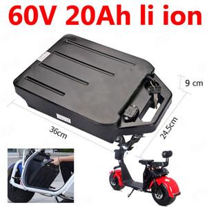 GTK водонепроницаемый 60V 20Ah литий-ионный аккумулятор 60v 18ah литий-ионный для двухколесного складного велосипеда citycoco электрический + 3A зарядное устройство