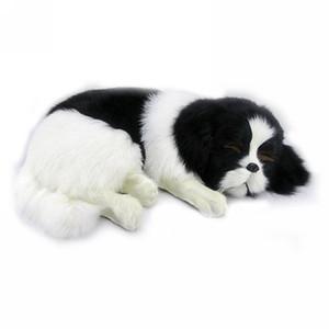 Dorimytrader Реалистичного Плюшевые игрушки собаки пятнистый Фаршированная Simulation Золотистый ретривер собаки любимчика украшения подарка 35x25x14cm