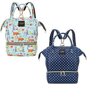 1Pcs Diaper Bag Fabric Nappy Bags Baby Fashion Print Bag Changing Backpack Oxford Nursing Mummy Baby Nappy Maternity Lunch Eqajd
