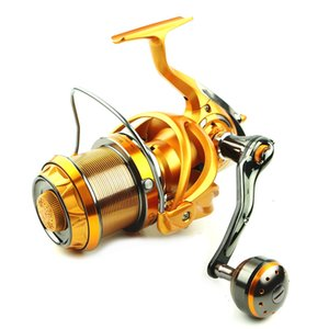 A fibra de carbono Spinning Fishing Reel 10BB CNC metal Rocker Água salgada engrenagem 5.5: 1 Molinete Pesca Distant Sea Roda Pesca Reel