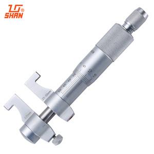 Freeshipping SHAN İçinde Mikrometre 25-50mm / 0.01mm Karbür Metrik Cırcır Vida Ölçer Kaliper Ölçme Araçları