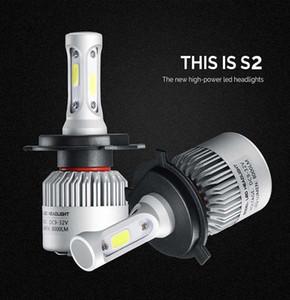 Os mais recentes S2 Auto Car faróis de LED farol H4 H11 H7 H13 9004 9005 9006 8000LM LED Faróis