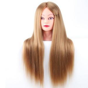 Профессиональные манекены, стайлинг головы длинные волосы головы для волос для парикмахеров, обучение головной волокна манекен головной дисплей