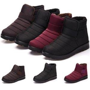 2020 Winter-Freigabe Vollständiger Verkauf warme Schneeschuhe Männer und Frauen Paare und flauschigen lila wasserdichte Baumwolle frei versendenden Schuhe Größe 35-46