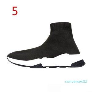 2019 de alta calidad de la ECA diseñador ocasional zapatos Speed Trainer Negro Rojo Triple Black calcetines de moda la zapatilla de deporte 36-45 CO02